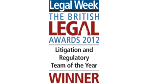 Litigation and Regulatory Team of the Year 2012