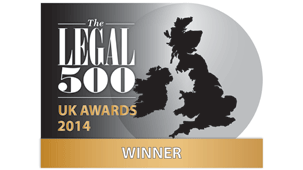 The Legal 500 UK Awards 2014 Winner