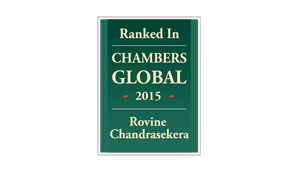 Rovine Chandrasekera recognised as a leading individual, Chambers Shipping (UAE) 2015