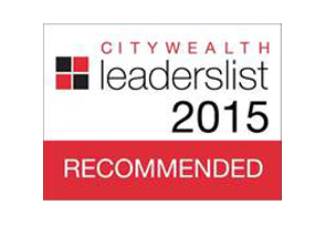 Recommended, Citywealth Leaders List 2015
