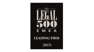 Leading Firm - The Legal 500 EMEA 2015