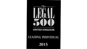 Leading individual for Fraud: civil; Banking litigation: investment and retail; Commercial litigation; Mediators  Legal 500 UK 2015