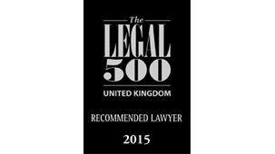 The Legal 500 UK - Recommended in Contentious Trust and Probate 2015