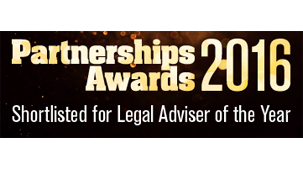 Projects and infrastructure team shortlisted for legal adviser of the year