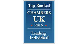Chambers UK 2016 - Notable practitioner in pensions litigation