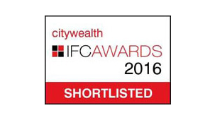 Shortlisted for Private Wealth Law Firm of the Year - CityWealth IFC Awards 2016