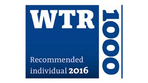Recommended lawyer WTR 1000 2016