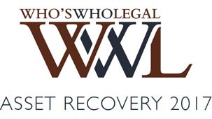 Ranked in Who's Who Legal as a leading asset recovery lawyer