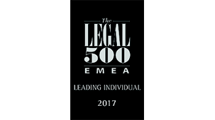 The Legal 500 'Hall of Fame' for shipping finance