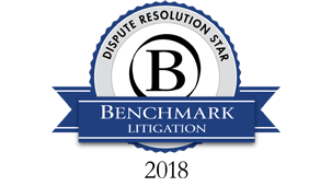 Dispute Resolution Star for International Arbitration by Benchmark Litigation Asia Pacific 2018