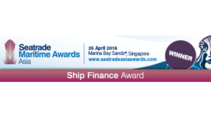 Ship Finance Award at Seatrade Maritime Awards Asia 2018