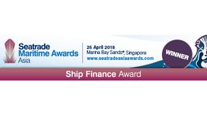 Ship Finance Award at Seatrade Maritime Awards Asia 2018