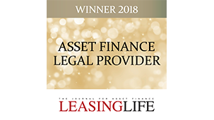 Asset Finance Legal Provider of the Year 2018
