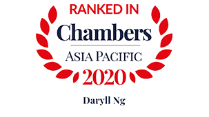 Leading individual for Shipping: Domestic: Litigation – Singapore  Recognised Practitioner for Shipping: Domestic: Litigation – Global-wide