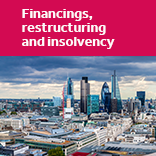 Financings, restructurings and insolvency